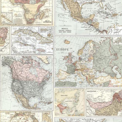Globetrotter Map Wallpaper Holden 98271 – Deborah Cooper