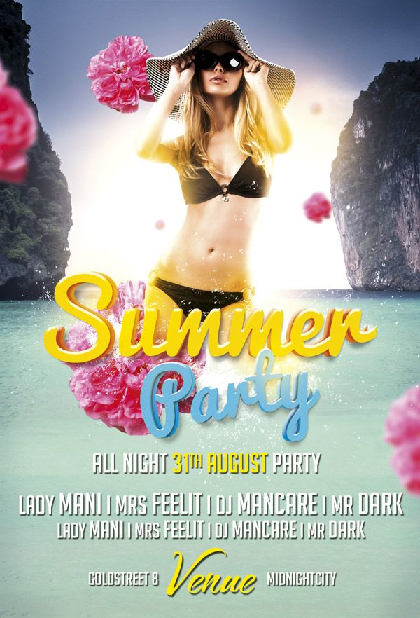 13 best Free Flyer Templates images on Pinterest Party flyer - pool party flyer template