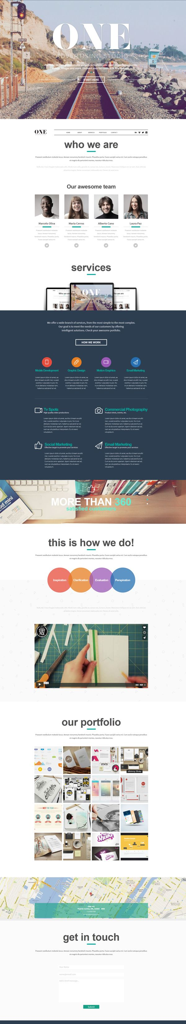 ONE - Adobe Muse Theme by Eduardo Mejia, via Behance