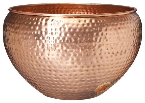 Copper Hose Bowl traditional gardening tools
