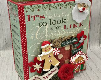 It's Beginning to Look Alot like CHRISTMAS All Occasion Scrapbook Scrapbooking Chipboard Album