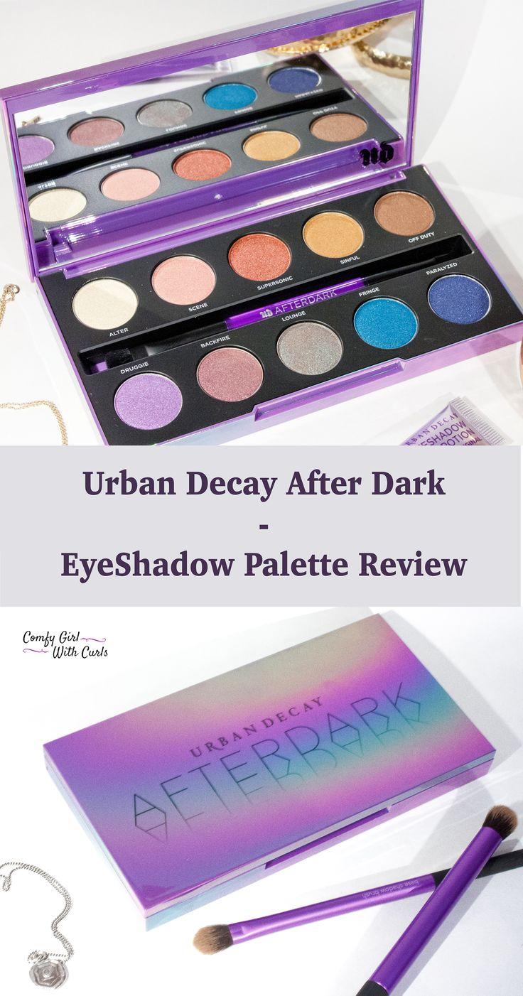 Urban Decay Afterdark Eye Shadow Palette Review on Dark Skin   Swatches   Beauty Blogger   Black Blogger