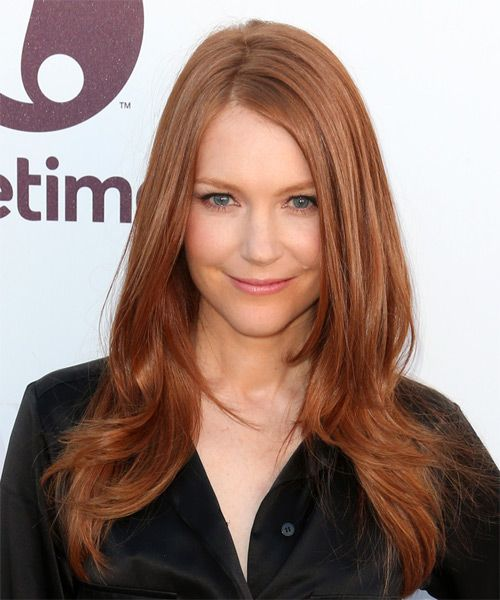 Darby Stanchfield Hairstyle - Long Straight Formal - Medium Red