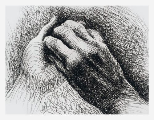 Henry Moore - The Artist's Hands, 1974