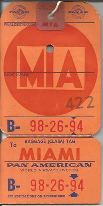 17 Best images about Pan American World Airways - Baggage