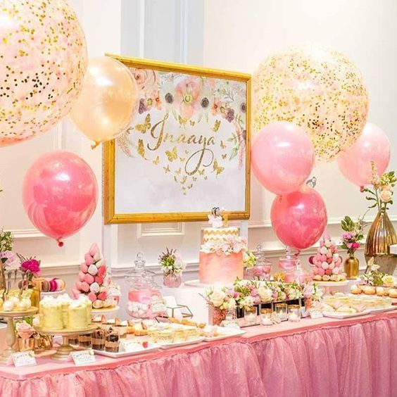Beautiful Dessert Table By @tinytotsevents For A 1st