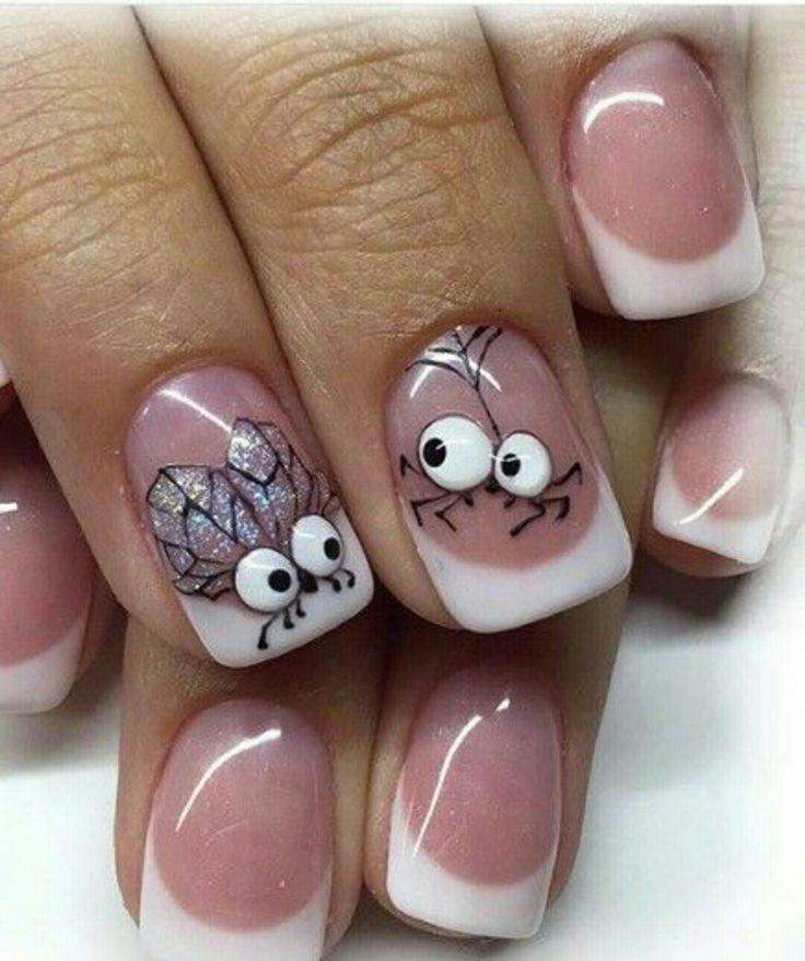 Смешные рисунки на ногтях пошагово, сербском