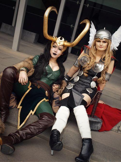 Lady Loki and Lady Thor.