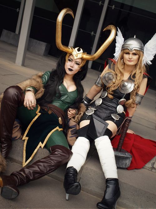 Lady Loki and Lady Thor I wanna be Lady Loki!!  Or is that Loki's Lady?  Yes to both?