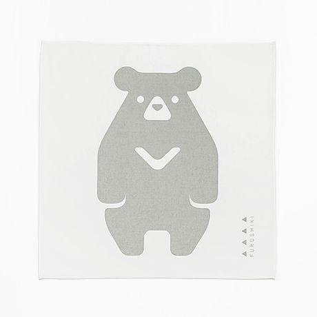 山形風呂敷/くま/コットン