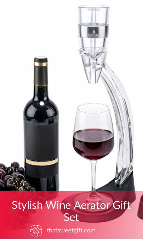 Stylish Wine Aerator Gift Set #thatsweetgift
