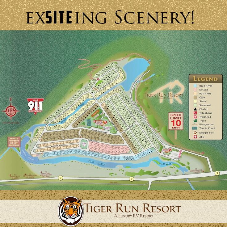Park Map, #TigerRunResort, #Breckenridge, #CO, #RV Sites & #Chalets for Rent
