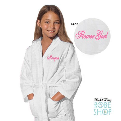 Personalized flower girl robes