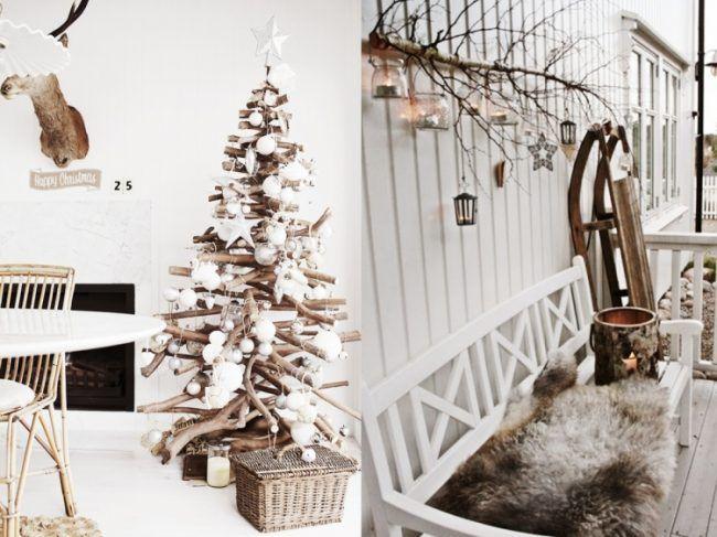 Cute Skandinavische weihnachtsdeko selber machen holz ideen christbaum treibholz