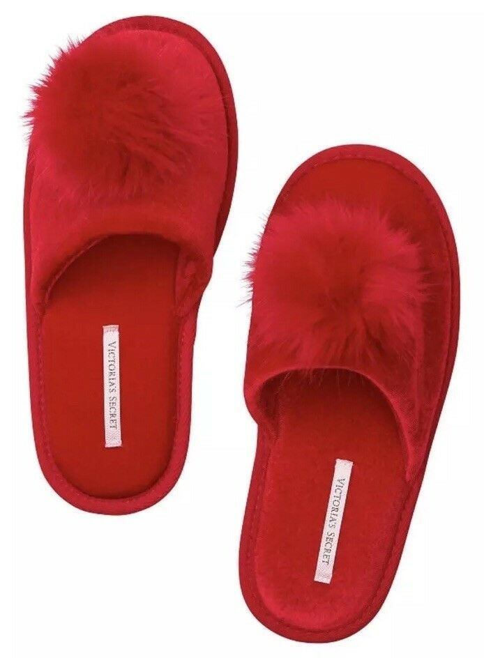 1b98f135b297a Details about Womens VICTORIA'S SECRET Red House Slippers Slides w ...