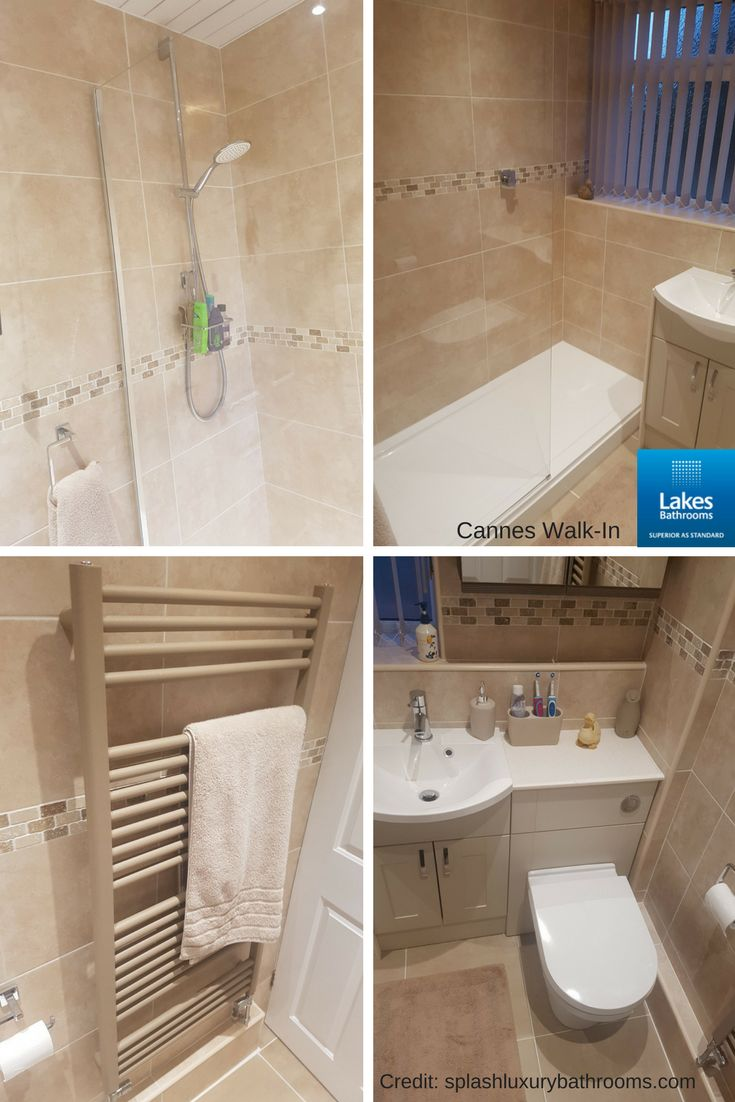 Latest #bathroomdesign from Splash Kitchens & Bathrooms featuring our Cannes Walk In Shower Enclosure.   #bathroomideas #bathroomdesign