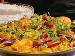 Paella med kyckling och räkor (kock Jennie Walldén)