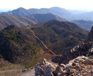 View from Afendis Stavromenos - Thrypti mountains