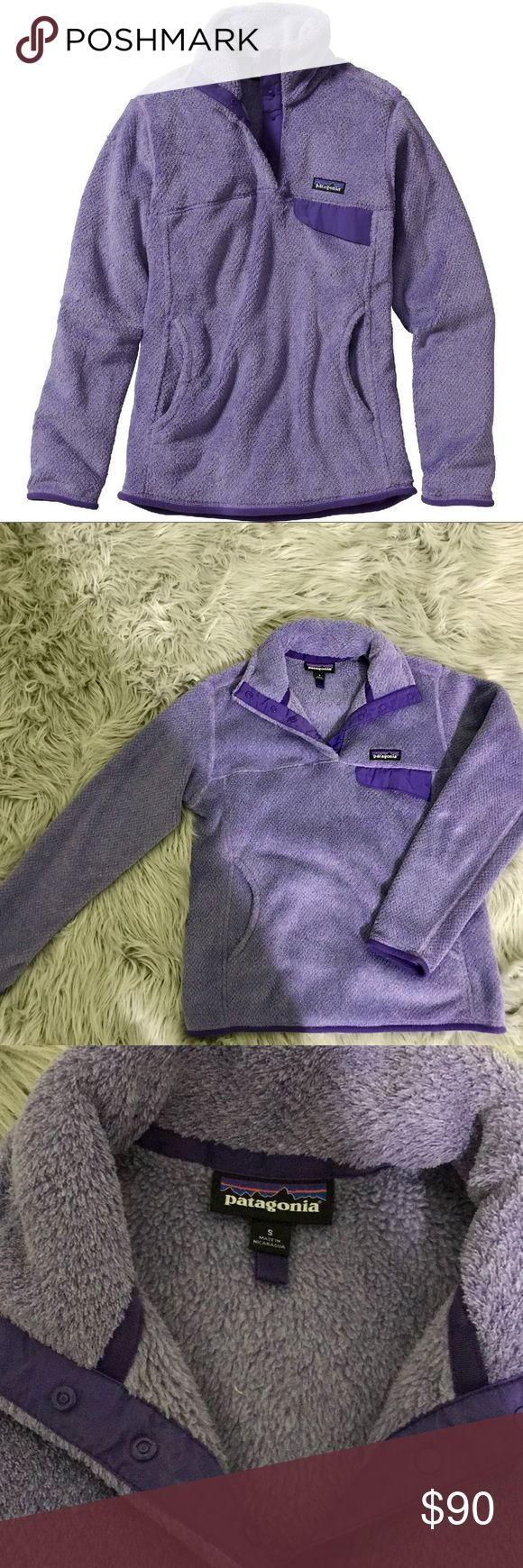 Purple Patagonia Fleece Pullover Tundra Purple Patagonia fleece pullover. Only worn a couple of times, in great condition! Patagonia Jackets & Coats