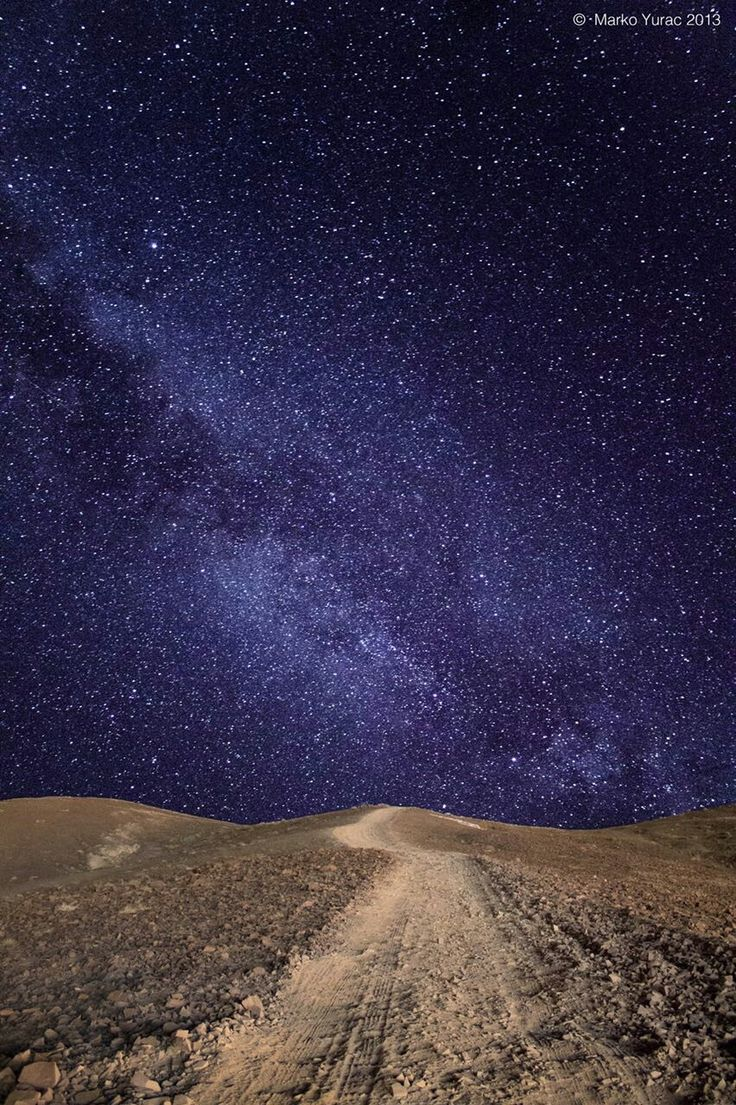 El límpido cielo de nuestro Desierto de Atacama, Chile