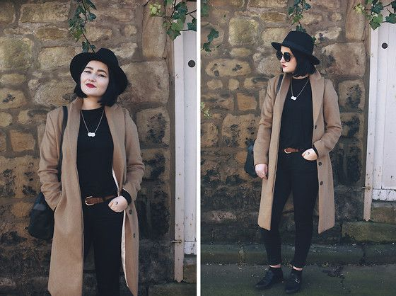 Ruby & Frank Hat, H&M Coat, New Look Shoes