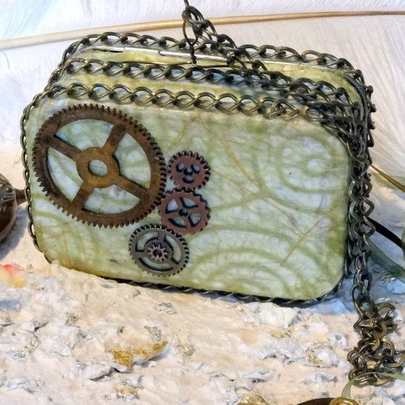 Steam Punk Metal Purse 2 compartment credit by AlteredStateofTin