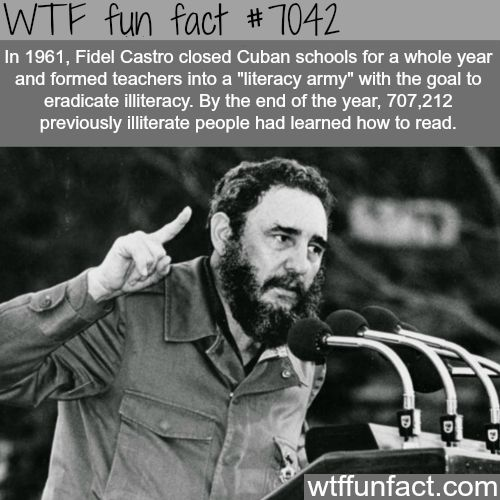 Fidel Castro - WTF fun facts:- it's strange how a man who commited so many attrocities also helped alot of people too