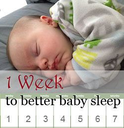 A seven-night program to better baby sleep habits