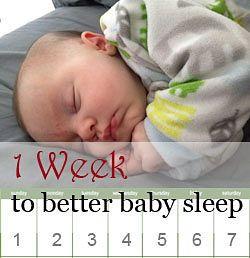 One week program for baby sleep training