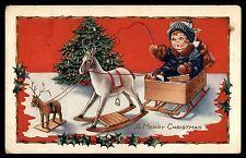 Рождество старинный Лошадь-качалка рождественской елки праздничные открытки