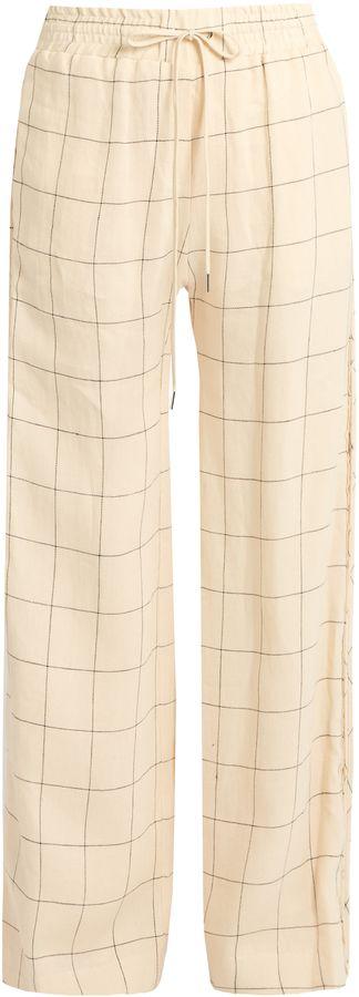Zimmermann Stranded Threadbare wide-leg linen trousers