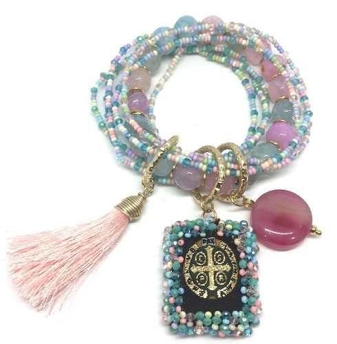 d6eceb50ba9f Escapularios Bordados Perlas Virgen De Guadalupe. Llaveros -   95.00 en Mercado  Libre