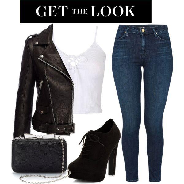 Rocker chic by mareehamasood246 on Polyvore featuring moda, Anine Bing, J Brand, New Look, La Regale, rockerchic and rockerstyle