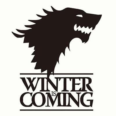 #Fuuny game of #thrones winter #coming stark wolf car door car sticker vinyl,  View more on the LINK: http://www.zeppy.io/product/gb/2/272314606319/
