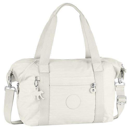 Kipling Tasche mit Reißverschlussfächern und einem abnehmbaren, verstellbaren Umhängeriemen.