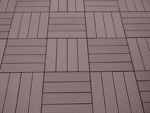 Holz Terrassenplatten Die Farbe Und Muster Des Holzes Gibt Die