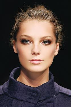 Contoured cheekbones ~ easy to achieve!  Use a very dark liquid foundation under the bone and blend up until you create this lovely face! Order Avon Ideal Flawless Foundation from my store www.youravon.com/echandler