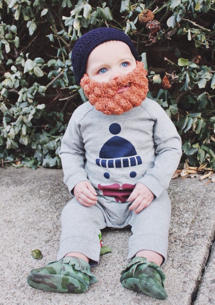 Crocheted Lumberjack Beard Baby Infant Toddler Child Hat in ANY COLOR, Hilarious Baby Shower Gift! by MiniToppers on Etsy (null)