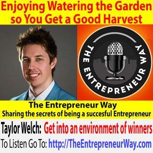 To find out more click this link =>> http://theentrepreneurway.com/podcast/358-enjoying-watering-the-garden-so-you-get-a-good-harvest-with-taylor-welch-co-founder-and-co-owner-of-traffic-and-funnels/  Taylor Welch is the co-founder of Traffic And Funnels, where they help entrepreneurs scale their businesses to 6 figures and beyond. Taylor's campaigns helped several clients break the seven figure mark. He's consistently growing his clients' endeavors, often from scratch to multiple six…
