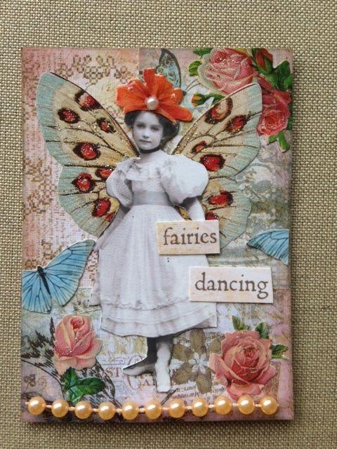 Spring Time Fairy ATC swap for VPI