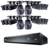 Lorex - 16-Channel, 16-Camera Indoor/Outdoor High-Definition DVR Security System - Black