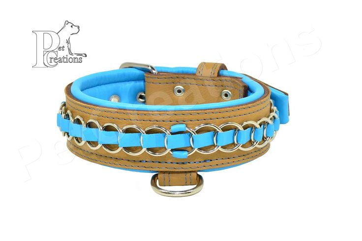 Rings of Steel - Leather Collar with decorative rings braided with leather - See more at: https://www.petcreations.gr/index.php?route=product/product&product_id=452#sthash.NFgXmFSh.dpuf
