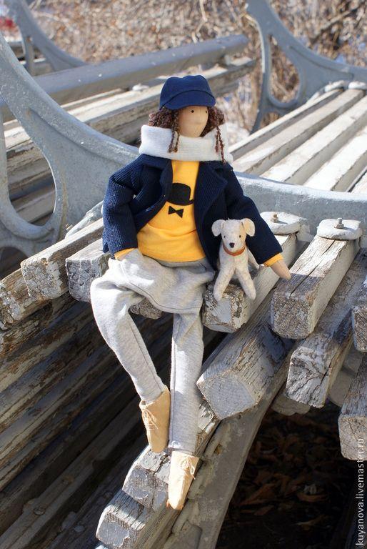 Купить Чарли. - разноцветный, текстильная кукла, тильда кукла, интерьерная кукла, Чарли, Чарли Чаплин