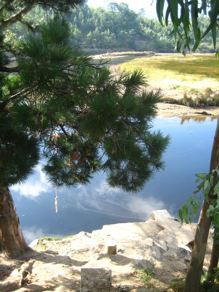 Landro river in Piago. Río Landro en Piago.