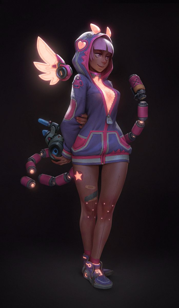 Cyber candy girls Bloo - animated by MoonlightOrange