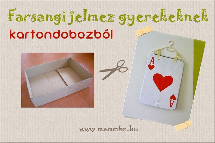 Farsangi jelmez kartondobozból gyerekeknek - kártyalap/Costume for kids from cardboard