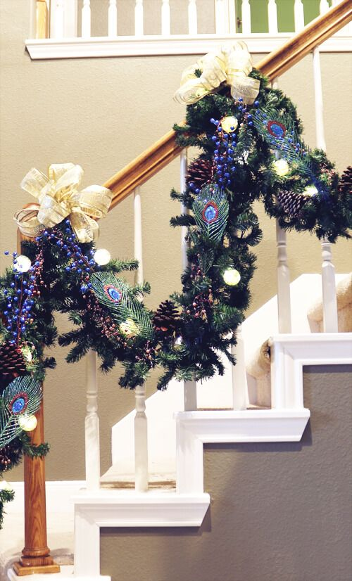 How To Decorate Garland On A Staircase Christmas Staircase