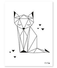 Fox, Kinderzimmer Bild, evtl in Orange-/Brauntönen collorieren