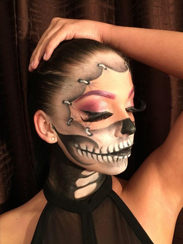 #halloween #makeup #makeupartist #fantasymakeup #skullmakeup