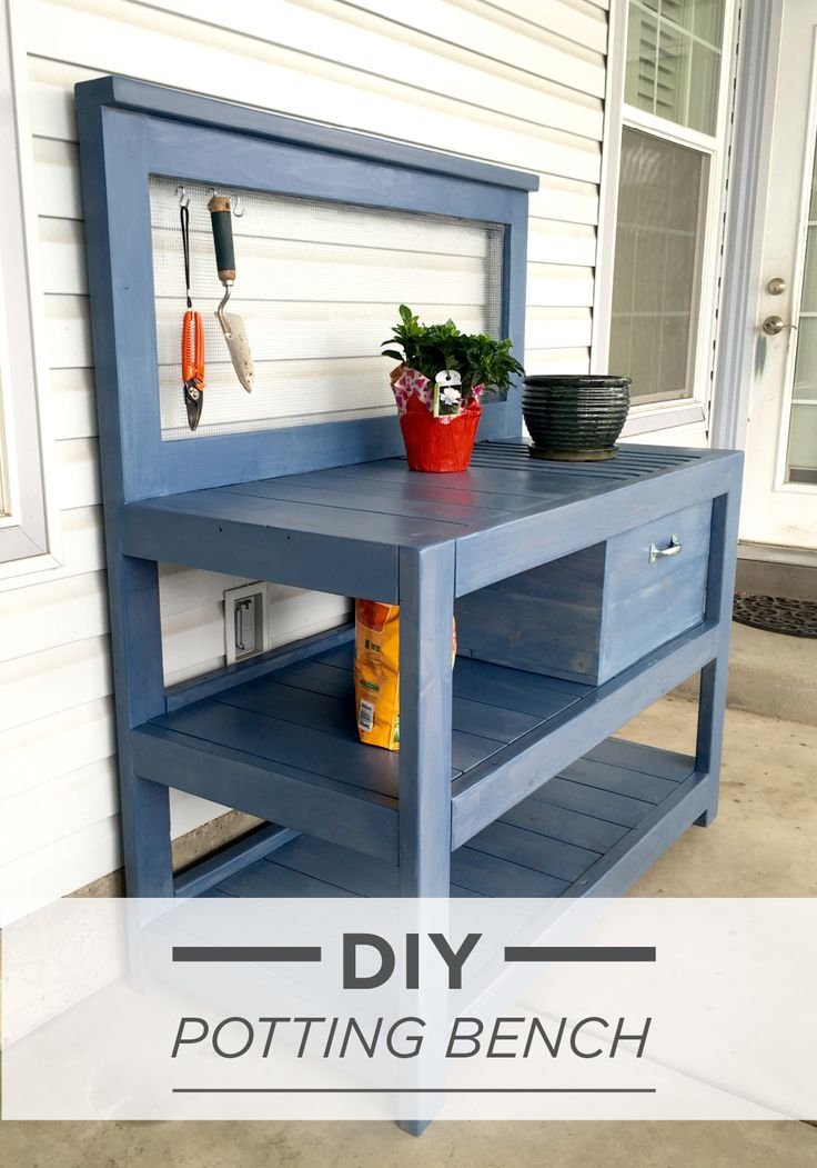 1179 best images about potting benches on pinterest for Garden potting bench designs